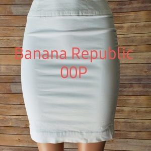 Banana Republic Pencil Skirt White Stretch Petite